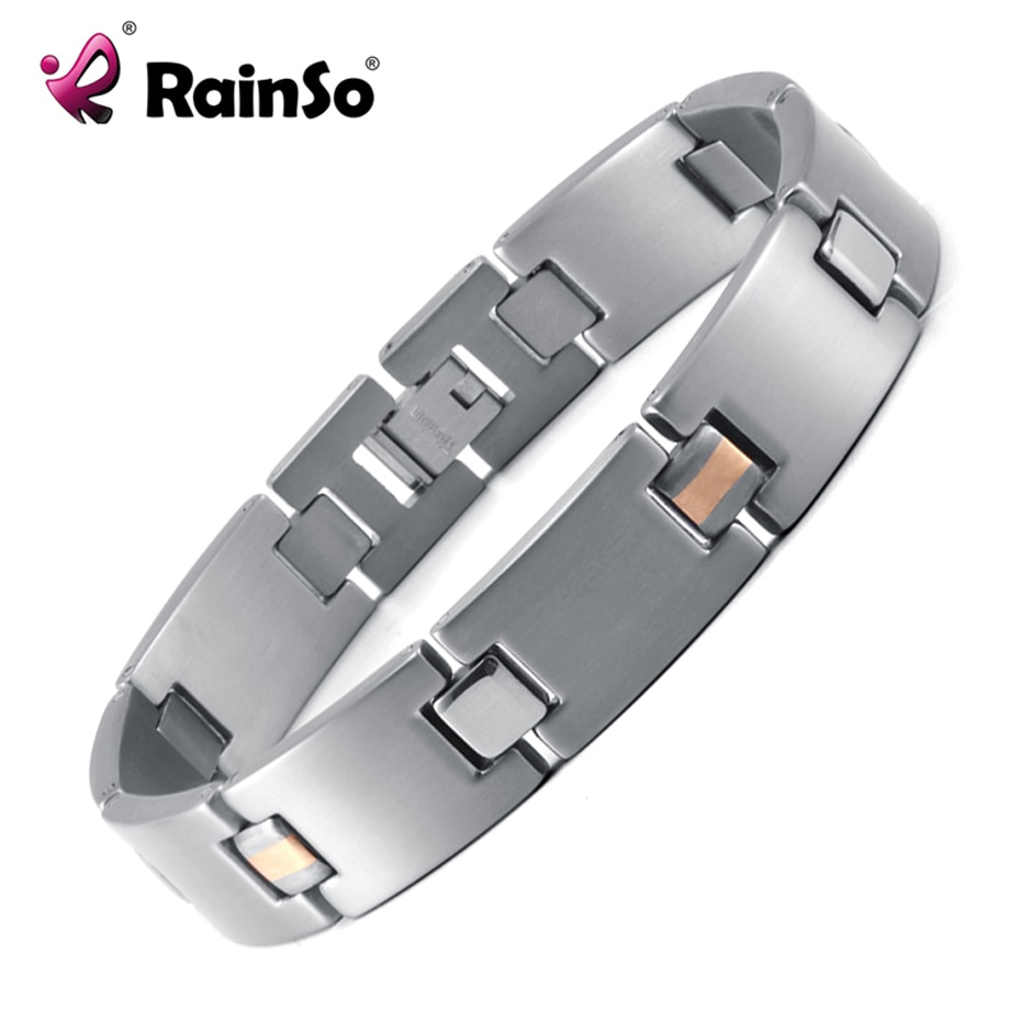 RainSo 2019 Fashion Titanium Bracelets & Bangles For Women Men Trendy Simple Generous Jewelry OTB-216  charm bracelets
