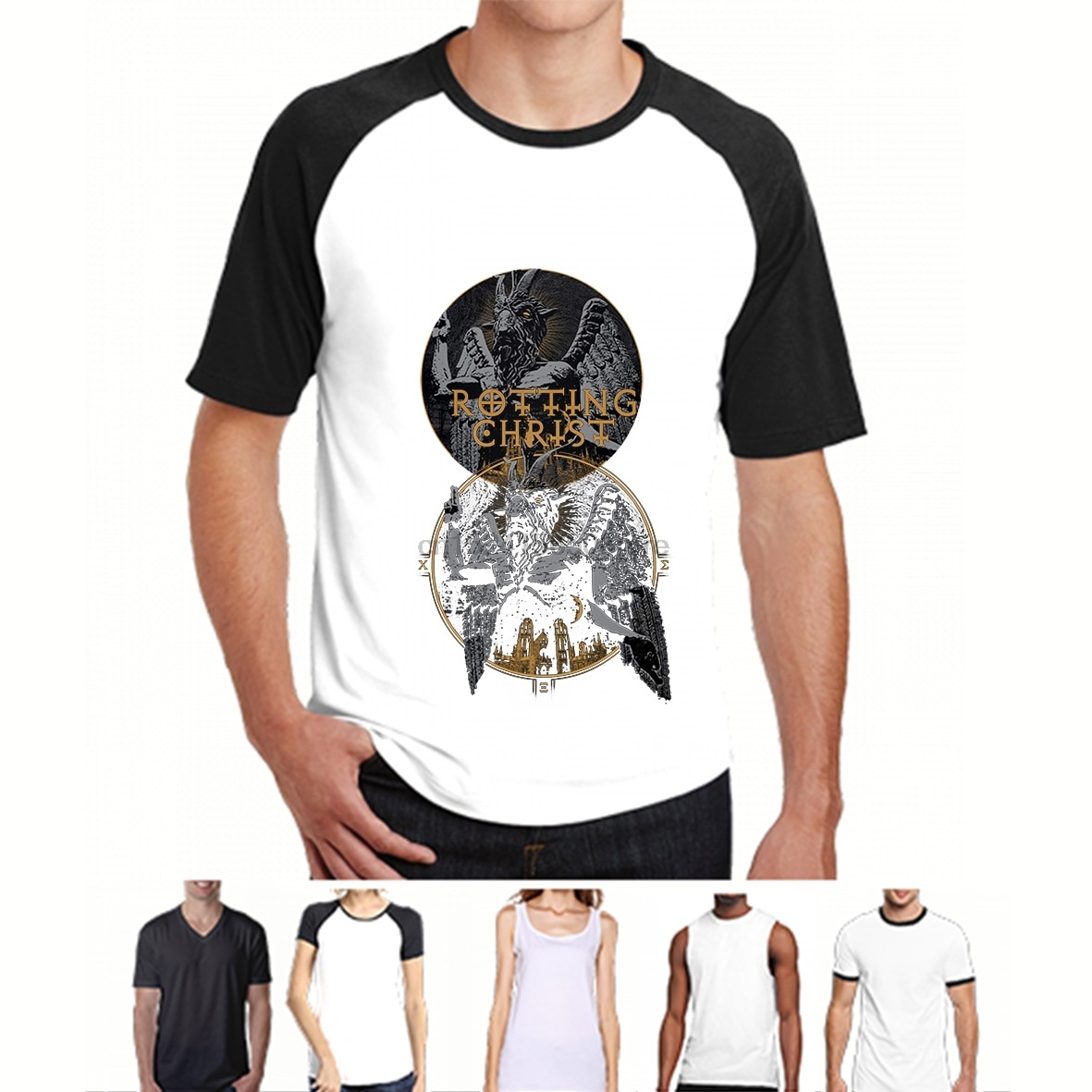 Funny t shirt men novelty women tshirt Rotting Christ Satanica T-shirt