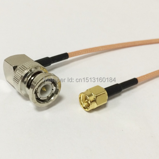 New Modem Conversion Cable SMA Male plug To BNC Male plug Right Angle Connector RG316 Cable 15CM 6