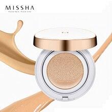 Cojín mágico MISSHA humectante (#21 o #23), cojín blanqueador inmaculado, cojín de aire BB cream, base de maquillaje Sunscree Corea