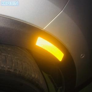2Pcs Car Reflective Strip Wheel Rim Eyebrow Protective Sticker for saab key 9-3 9-5 emblem 93 evening dress 95 900 accessories