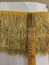 10 yards/bag f039# gold/silver/grey  beads tassel fringe 5 cm width for decoration dress/fashion designer