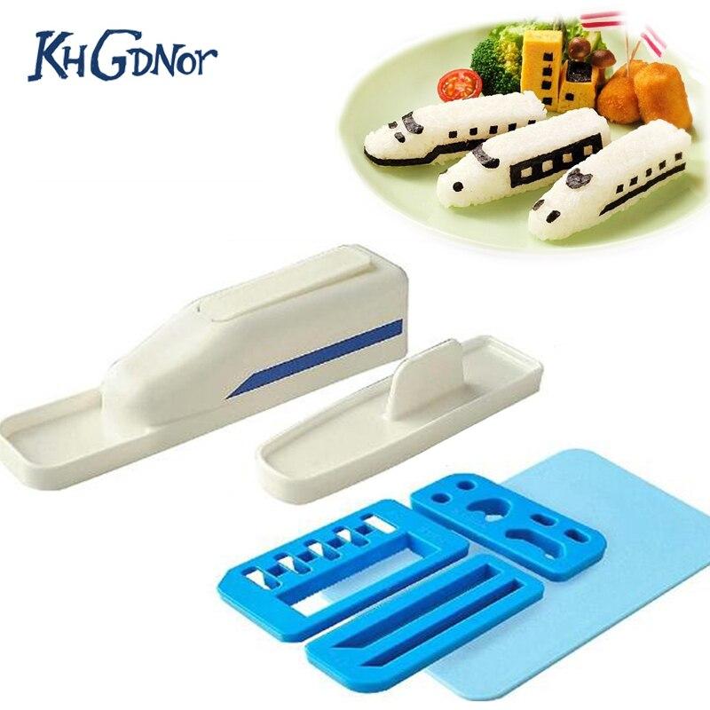 Креативный милый в форме поезда форма для риса DIY Дети прекрасный поезд рис торт