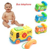 Hiinst Toy Funny Anti-stress Children Boys Girl 2018 NEW Baby Toys Music Cartoon Bus Phone Educational Kids Toy Gift