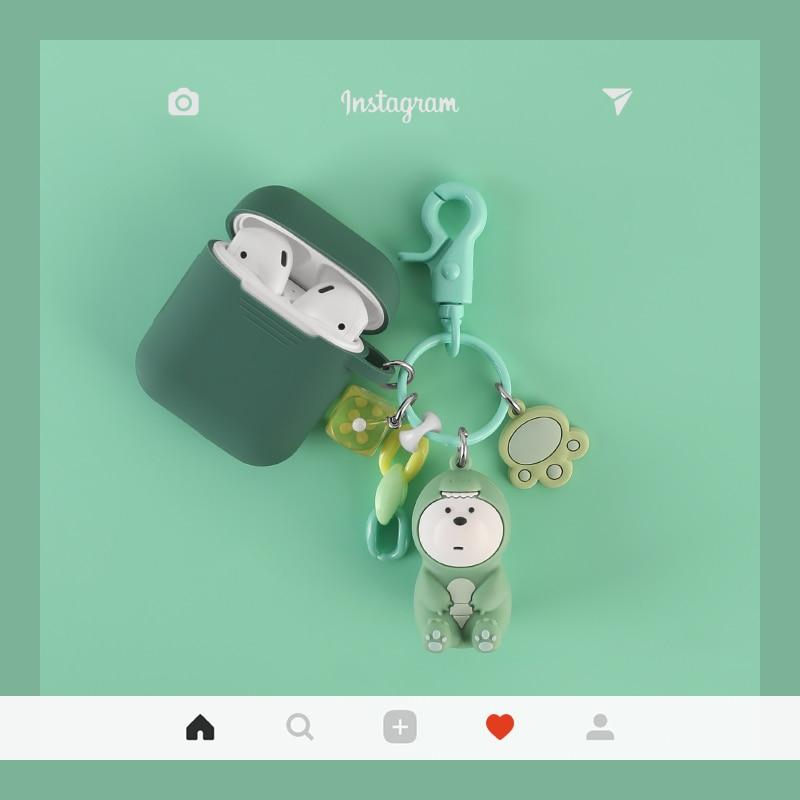 Funda de silicona para auriculares inalámbricos Bluetooth de lujo Super cute we are bear pink pig nose para Apple AirPods 1 2
