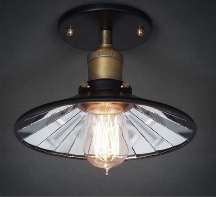 2016 American Vintage 22CM Inside Mirror Wall & Ceiling Lights E27 Edison Bulb Home Bar Decor Lighting