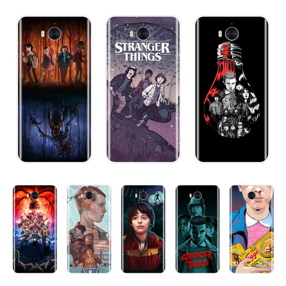 Stranger Things Silicone Phone Case For Huawei Y3 Y5 Y6 II Soft Back Cover For Huawei Y5 Y6 Y7 Pro Prime 2017 2018 Y9 2019 Case