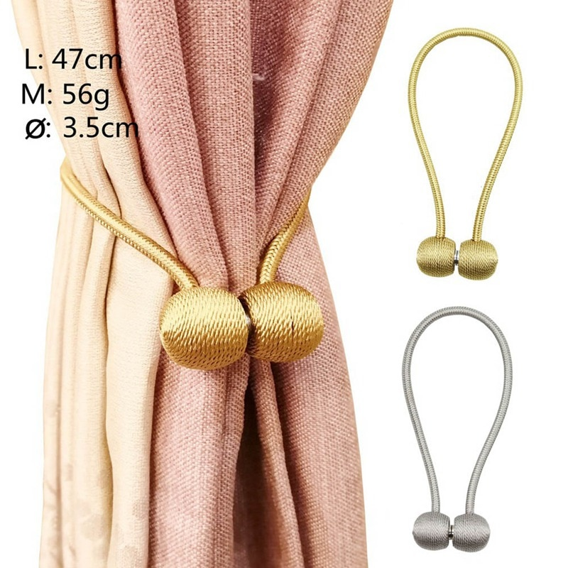 Hebillas de cortina caliente 2019 más nuevo magnético perla bola cortina Tiebacks espalda Holdbacks hebilla Clips cortina accesorios decorativos