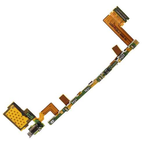 Para Xperia Z5 E6603 botón de encendido de volumen Cable flexible vibrador