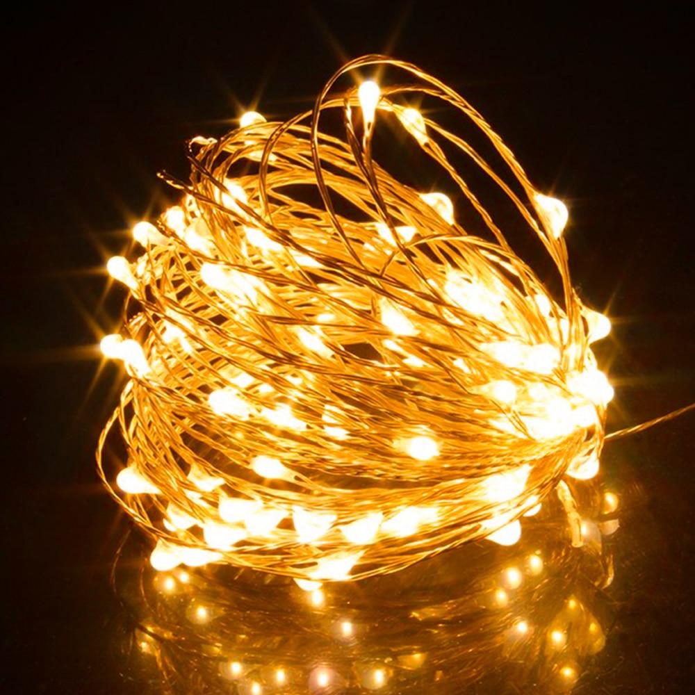 2 м 5 м 10 м медная проволока USB СВЕТОДИОДНАЯ Гирлянда для праздника Водонепроницаемый Открытый Сад Рождественская елка для вечеринки свадебное украшение Сказочный свет