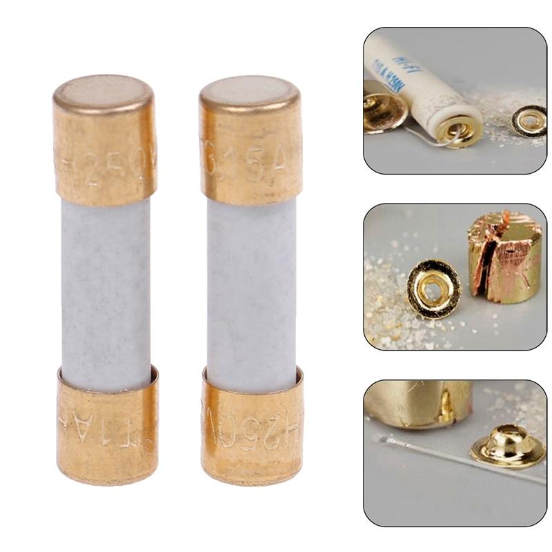 1x Hifi Silver Alloy Fuse Gold Cap 5x20mm 1A 2A 3A 4A 5A 6A3 Slow Blow For Amplifier Dac Preamplifier Headphone Amplifier