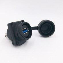 USB 3.0 waterproof USB socket data IP67 female panel mount socekt water proof H24