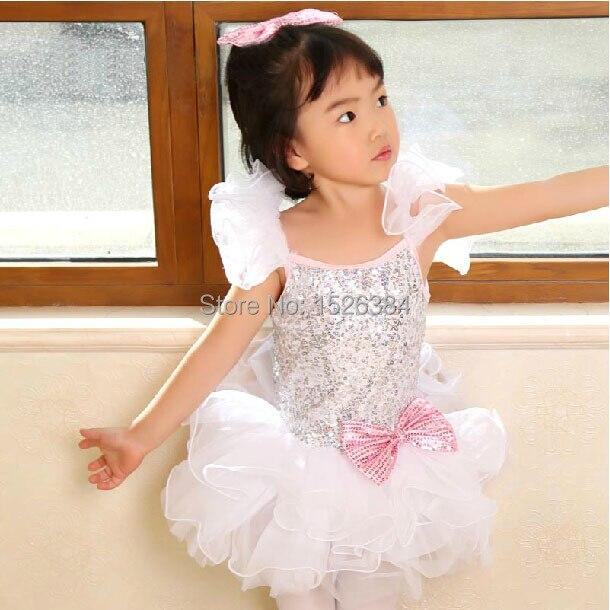 فستان رقص باليه توتو وردي للأطفال البالغين C19, فستان رقص باليه توتو وردي ترتر أبيض للأطفال البالغين C19