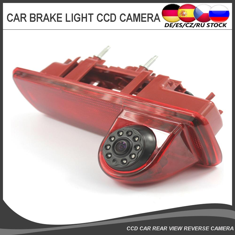 Car Rear View Reverse backup Camera for Opel Vauxhall Vivaro Renault Trafic 8pcs IR Light CCD Auto Vehicle Brake Light Camera