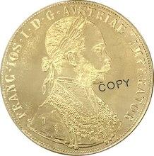 Pièce de collection en laiton Habsburg   1913, autriche 4 Ducats Franz Joseph I, pièces de monnaie de reproduction
