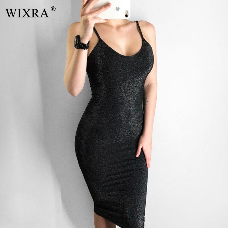Wixra 2019 novo verão espaguete cinta vestido longo magro vestidos sólidos das mulheres roupas para as mulheres
