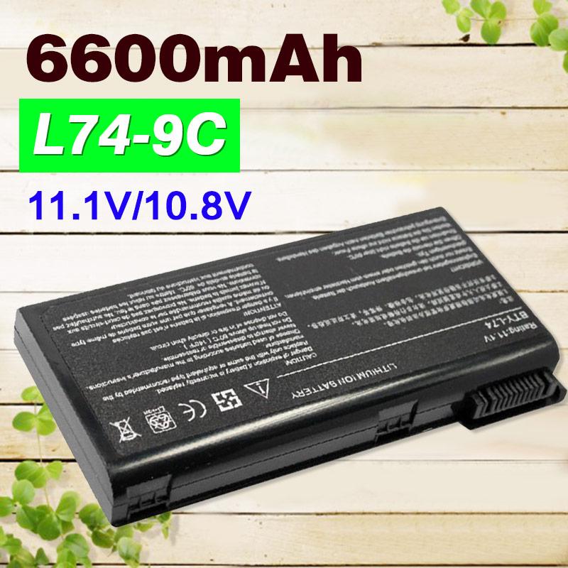 ApexWay 9 zellen 7800mAh BTY-L74 BTY-L75 91NMS17LD4SU1 91NMS17LF6SU1 batterie Für MSI A5000 A6000 A6200 A6203 A6205 A7200 Serie