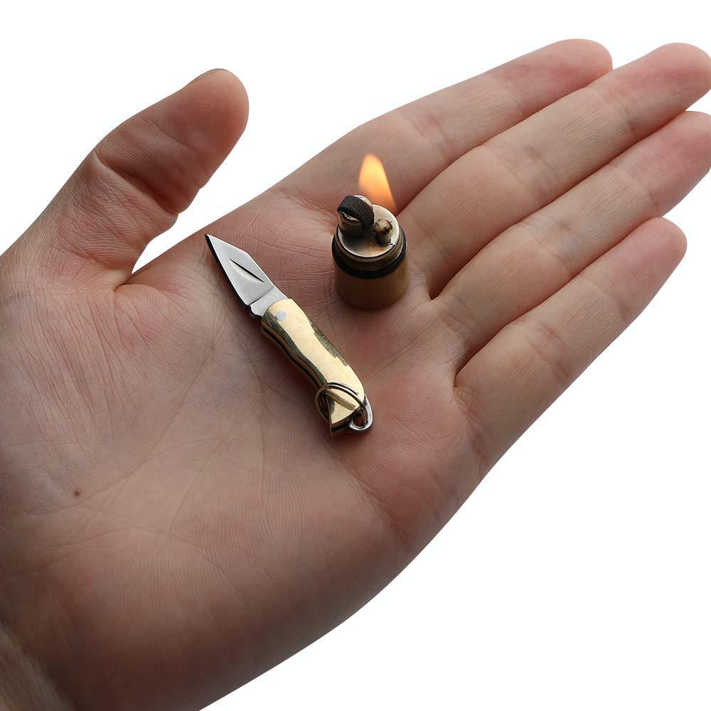 Mini juego de mechero y cuchillo, campo Herramienta de supervivencia de emergencia sofisticado y práctico