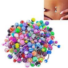 30 teile/satz Bunte Sexy Bauch Bars Body Piercing Taste Ring Nabel Barbell Jewerly Lip Piercing Unisex Mode Schmuck