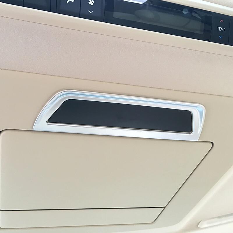 ABS mate para Toyota Alphard 2016 2017 2018 accesorios para automóviles Marco de pantalla de coche cubierta de tira de ajuste pegatina de coche estilo 1 Uds