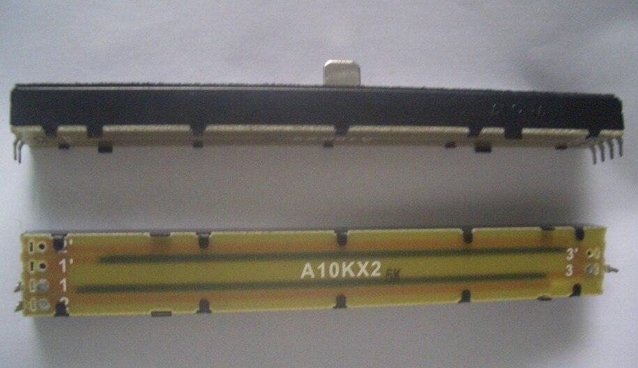 [BELLA]Taiwan ALPHA 12,8 cm 128MM asociado con un solo mezclador fader potenciómetro deslizante A10K A10KX2 -8x8MM 8mmb-10pcs/LOT
