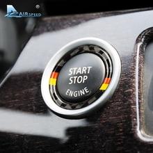 Airspeed для BMW E90 E92 E93, углеродное волокно, автомобильный двигатель, старт, стоп, кольцо, отделка м, спортивное автомобильное зажигание, брелок, 3 серии, автомобильные аксессуары