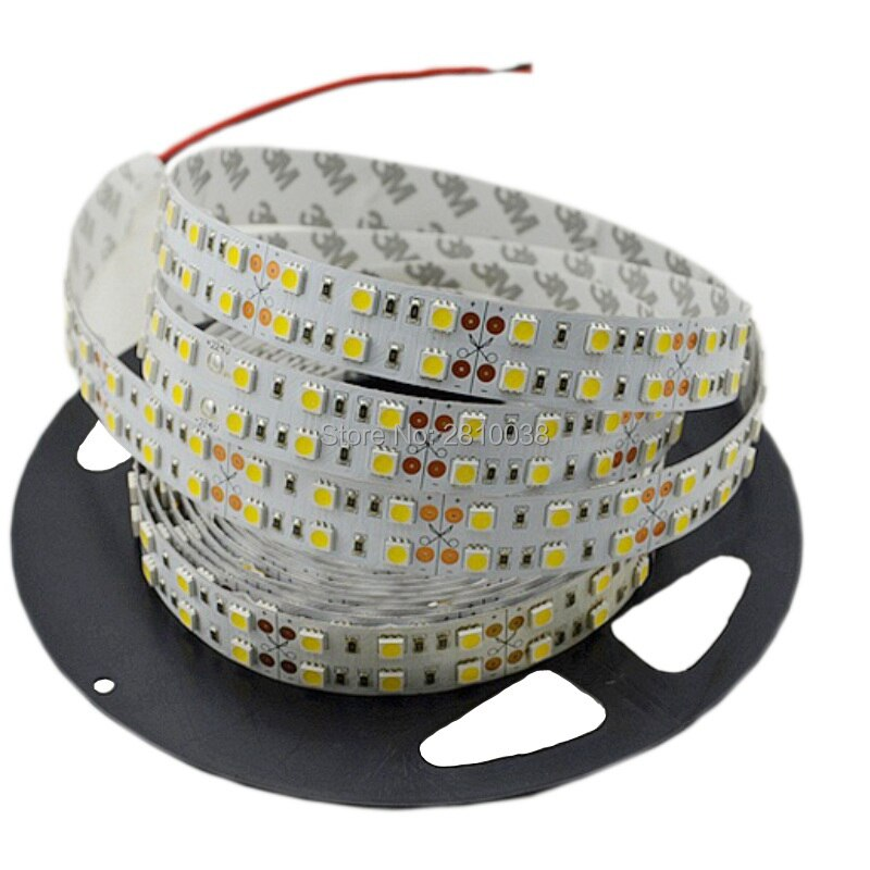 600M/Lot Top quality LED strip SMD5050 DC24V Flexible LED strips with 120Leds/M IP22 LED strip light with 15mm wide PCB enlarge