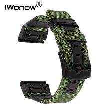 Geniune Nylon & Leather Watchband for Garmin Fenix 5X/3/3HR/Quatix 3/Tactix/D2 Watch Band Quick Release Easy Fit Strap Bracelet