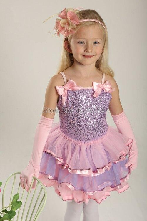 Lentejuelas arco camiseta Ballet Tutu vestido niños adultos traje de la danza de C30