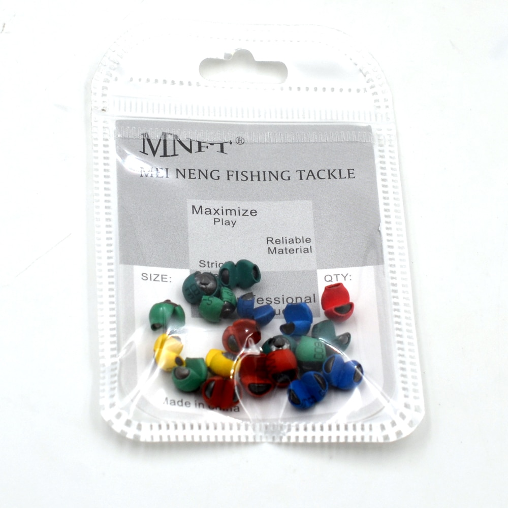 MNFT 120PCS/Lot New! Fishing Angling Lead Weight Split Shot Bullet PU Rubber Protect Rig Sinkers Bite Clip enlarge
