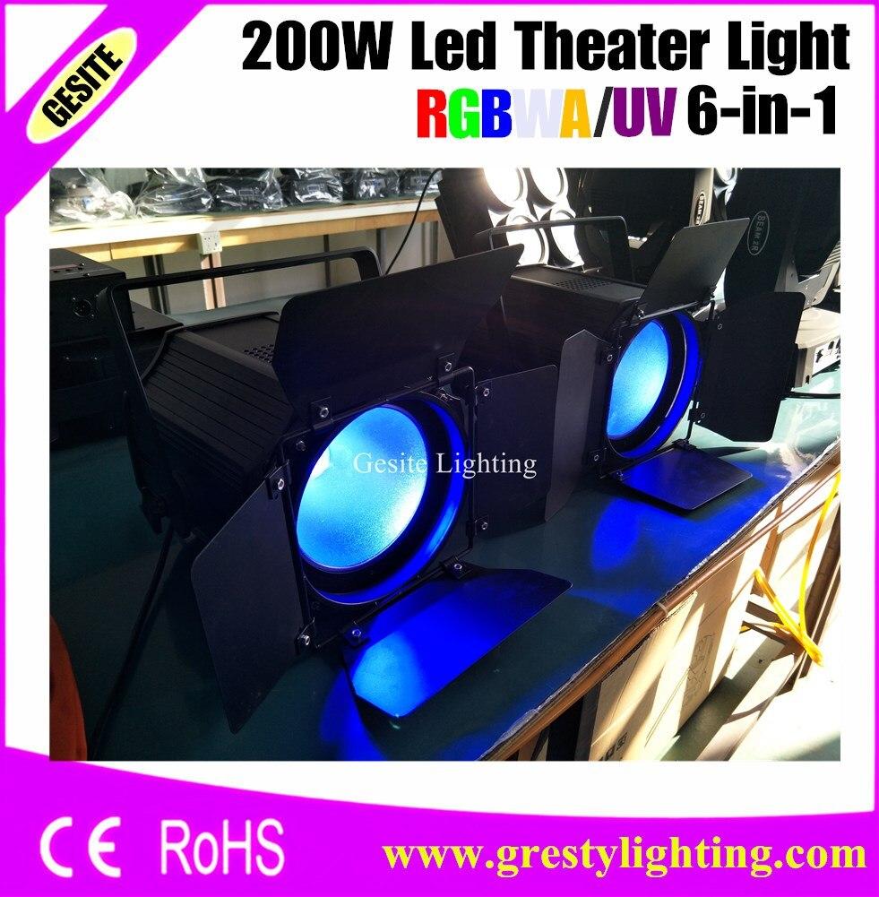 2 adet/grup COB RGBWA UV 6IN1 led par 200 w sahne Aydınlatma Tiyatro TV Stüdyosu için