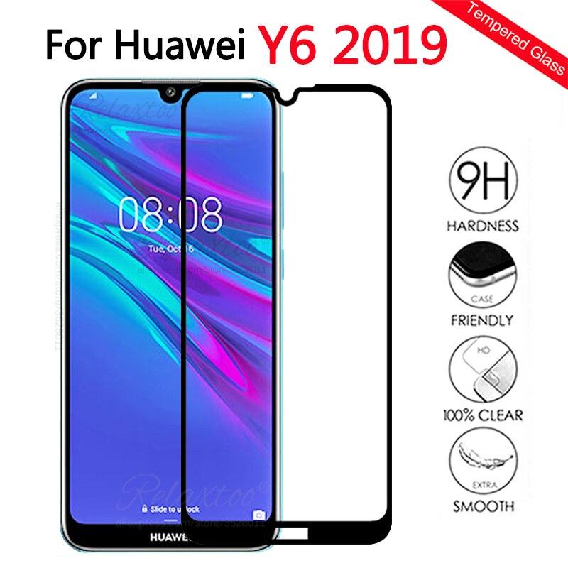 Protector de pantalla de vidrio templado para Huawei Y6 2019 para Huawei Y6 prime 2019 Y 6 2019 cover touch película