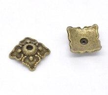 "Zinc metal alloy Beads Caps Square Antique Bronze(Fits 14mm-20mm Beads)Pattern Pattern 8mm(3/8"")x 8mm(3/8""),30 PCs new"