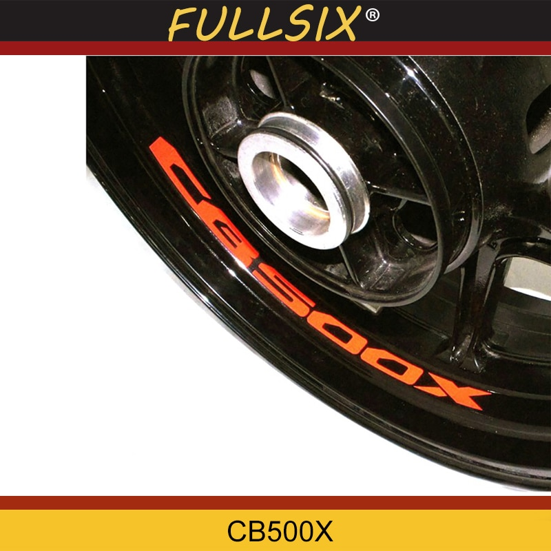 Siete Colores 8X personalizado borde interior calcomanías rueda reflectante pegatinas rayas FITHONDA CB500X CB 500 X