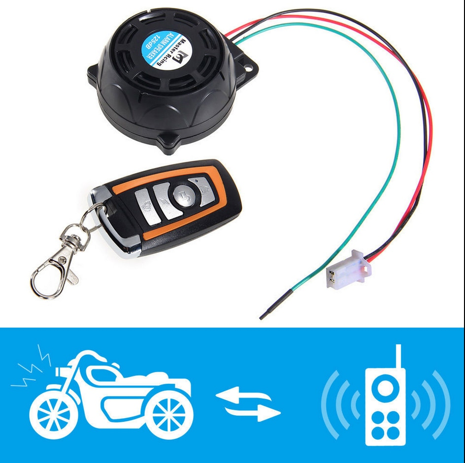 Sistema de alarma para motocicleta, alarma antirrobo de seguridad, tipo Plato todo en uno, Alertor de motor de motocicleta, alarma antirrobo, Piezas de motocicleta 5
