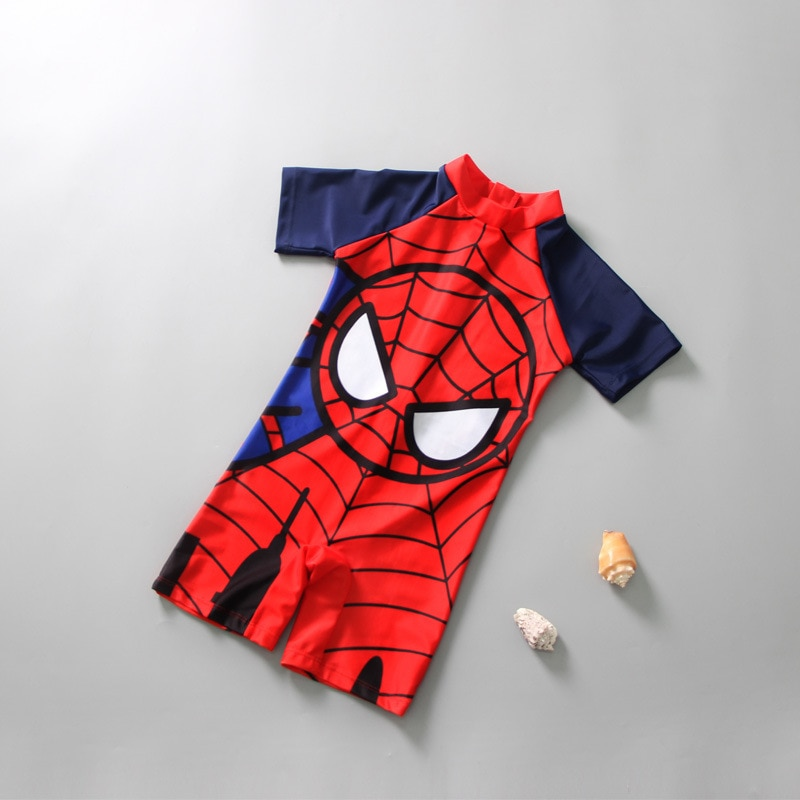 Boys Swimsuit 1-7 Years Baby Boy Swimming Trunks One Piece Spiderman Swimsuits for Boys Kids Bathing Suit  Short Sleeve 2018 new children swimsuit boys spiderman swimwear kids boy swimming trunks boy shorts