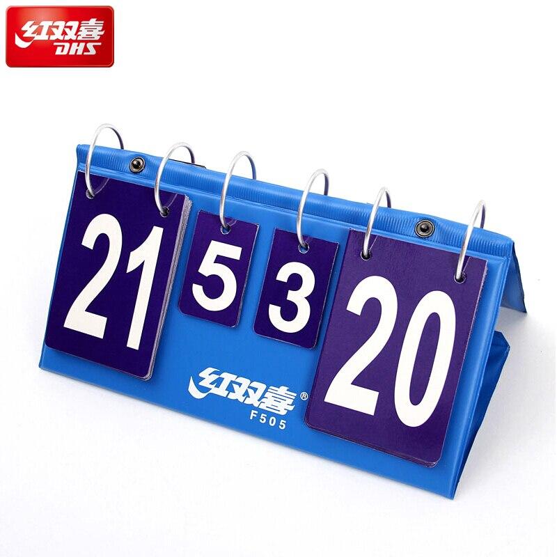 ملحقات طاولة تنس الطاولة DHS لوحة النتائج القياسية المحمولة الخفيفة للألعاب بينغ بونغ لعبة تنس دي ميسا بطاقة النتائج