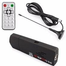 Meilleures offres USB2.0 RTL2832U + R820T DVB-T SDR + DAB + FM Dongle bâton antenne de télévision numérique récepteur SDR