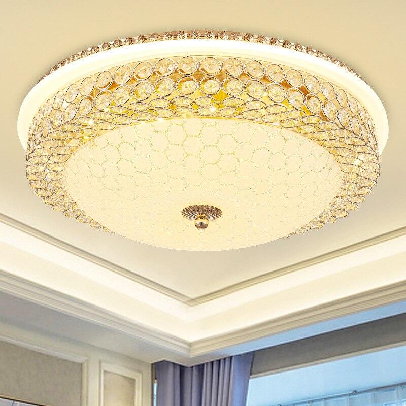 Luces De Techo europeas para dormitorio principal, 6 lámparas De Cristal, luces...