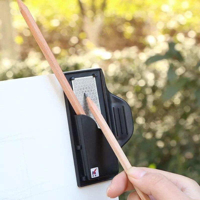 Profesional junta de bocetos Clip boceto dibujo al carbón lápiz afilado Clips puntero herramientas de la escuela de arte de papelería suministros