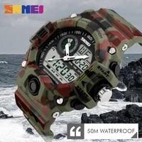 skmei men dual display wristwatches 50m waterproof outdoor sport watch chronograph shock resistant watch relogio masculino 1029