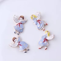 alloy drop oil kawaii wing angle charms for bracelets necklace pendant handmade diy craft for women jewelry findings making gift