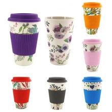 Tasse de café en fiber de bambou   De voyage réutilisable, tasses à café écologiques, tasse de boisson