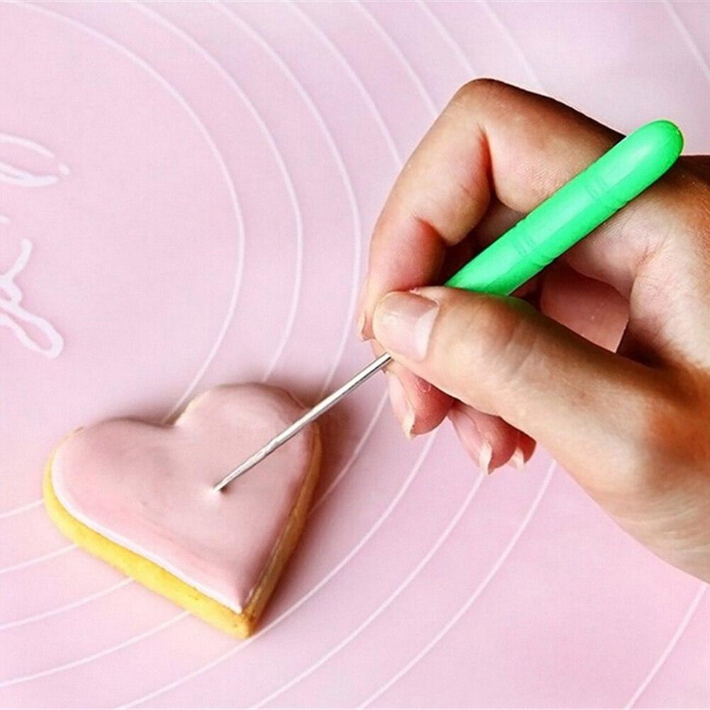 Sugarcraft Fondant Cake Cookie Decorating Carving Marking Patterns Scriber Bubble Pricker Needle Modelling Tool
