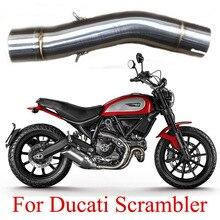 Silencieux rond de Moto en acier inoxydable   Pour Ducati brouteur 51mm, tuyau déchappement de Moto à lien moyen