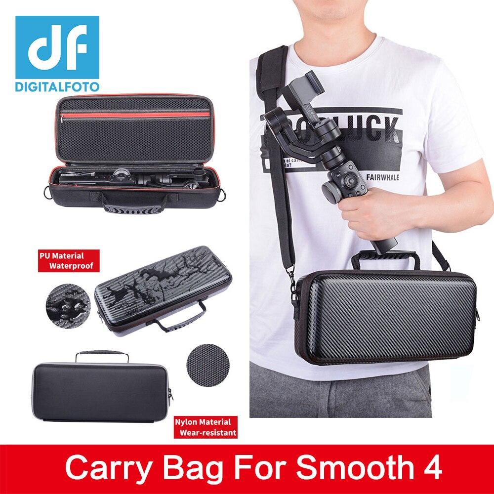Bolsa suave de almacenamiento de 4 bolsas, funda protectora impermeable para Zhiyun Smooth 4, bolsa estabilizadora de cardán para smartphone