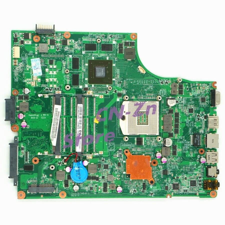 SHELI para Acer Aspire 5745 5745G placa base de computadora portátil MB PTY06.001 DA0ZR7MB8D0 DDR3 HM55 pruebas de producto 100% trabajo perfecto