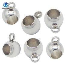 Mingxuan 10 Pcs Rvs Hanger Clip & Hanger Claps Silver Tone Bail Kralen Voor Diy Sieraden Maken Bevindingen Gat 3/4 Mm