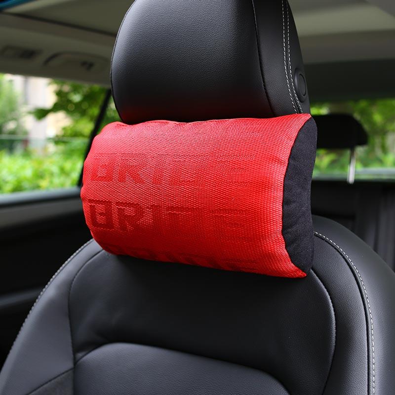 Estilo JDM BRID RECA almohada soporte de asiento decoración reposacabezas respaldo asiento cubierta Hellaflush descanso del cuello tela de carreras Gradation