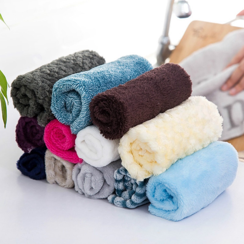 Paño de plato de fibra de bambú Limpiador de cocina trapos de lavado de limpieza toalla para limpieza de coche paño de baño polvo secador de manos toalla cozinha